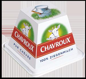 packaging du fromage de chèvre CHAVROUX