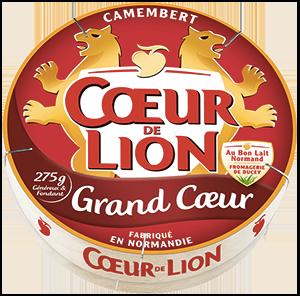 packaging du fromage camembert cœur de lion