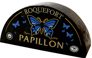 packaging du fromage roquefort papillon