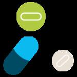 pictographie de trois médicaments